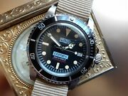 New Mod Aged Seiko Sub Comex Nh35 Thick Dome Acrylic Crystal Water Proof Tested