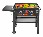 28 Inch 2 Burner Gas Griddle Bbq Grill Portable Barbecue Cooking Outdoor Patio