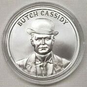 1oz Butch Cassidy Silver Round Coin 9 Wild West Legends Series Bank Robber