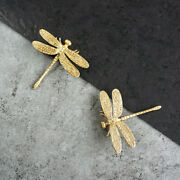 2 Dragonfly Shape Brass Knobs Cupboard Pulls Drawer Knob Cabinet Handles Us New