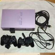 Play Station 2 Sakura Pink Color Limited Edition Main Unit Cable Controller Used