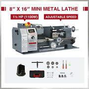 8x16 Inch 2250rpm Mini Metal Lathe W 1100w Brushless Motor 5 3-jaw Chuck And More