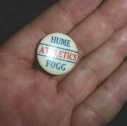 Vintage Pinback Button Hume Fogg High School Athletics From The 1930and039s