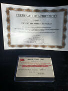 Extremely Rare Titanic Original Screen Used First Class Passenger Ticket Prop