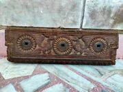 Antique Wooden Garuda Carved Door Panel Old Wood South Indian Wall Panel
