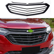 Black Front Center Mesh Grille Grill Cover 6pcs For Chevrolet Equinox 2018-2021