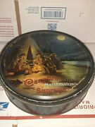Vintage Campfire Supreme Marshmallow Tin With Boy Scout Camping Scene Rare