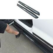 Black Steel Side Step Running Board Nerf Bar Protect For Chevrolet Equinox 18-21