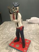 Catrin - Cantinflas - Day Of The Dead - Paper Mache - 12and039