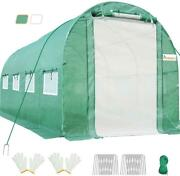 King Bird Walk In Greenhouse Heavy Duty Portable Hot Green House 15and039x6.6and039x6.6and039