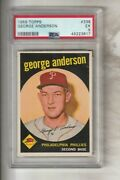 George Sparky Anderson 1959 Topps Phillies Rookie, Psa Ex 5
