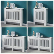 White Wood Radiator Cover Mdf Grill Shelf Cabinet Modern Traditional Furniture