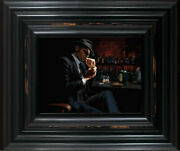 Man Lighting Cigarette Iii By Fabian Perez. Framed With Coa. In Stock. Quick Del