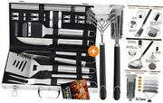22 Pcs Bbq Grill Accessories Set In Aluminum Case Bundle With 2 Different
