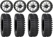 System 3 St-3 Machined 14 Wheels 30 Xt400 Tires Yamaha Grizzly Rhino
