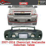 Front Bumper Cover Primed For 2007-2014 Chevrolet Avalanche / Suburban / Tahoe