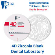 Dental Lab Milling Crown And Bridge Dsi 4d Zirconia Blank Disc Thickness 16mm