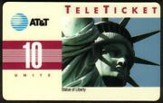10u Statue Of Liberty Group 3 = And039krand039 Over Barcode Korean Phone Card
