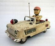 Vintage Old Rare Battery Operated Emergency Truck Litho Tin Toy Tn Nomura Japan