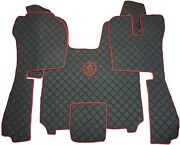Set Floor Mats Carpet Engine Cover For Scania R 2014 + Truck Automatic Gearbox