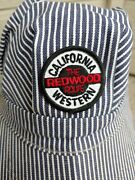 Vintage California Western The Redwood Route Train Conductors Hat