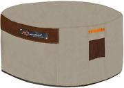 Megaraise Gas Fire Pit Table Cover For Round 50 Inch Dia Outdoor Fire Bowl