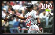 100. Albert Belle Indians Mlb Giveaway Issue Exp 10/25/97 Horiz Phone Card