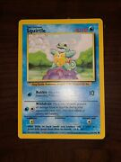 Pokemon Card Old Squirtle Card In Perfect Condition Blue Rare