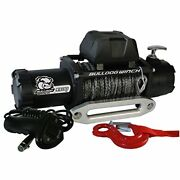 10045 9500lb Winch W/5.5hp Series Wound 100ft Synthetic Rope Aluminum Frld