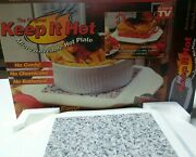 As Seen On Tv Keep It Hot Microwaveable Hot Plate