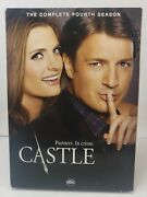 Castle Complete 4th Fourth Season - 5-disc Dvd Set New Sealed