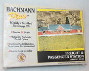 Bachmann N Scale Freight And Passenger Station Building Kit 35155 - New / Sealed