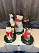 Byers Choice The Carolers Vintage Lot Of Dogs And Cats Not Mint Nice Lot🤩