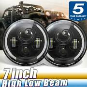 Dot 7 Inch Led Headlight Round Hi/lo Sealed Beam Drl Fit Chevy Pickup Truck 3100