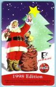 5m And0391998 Editionand039 Santa Holding Coca-cola Bottle Coke And Toys Tree Phone Card