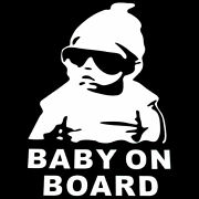 Baby In Car Baby On Board Hang Over Sign Back Car Rear Window Decal Sticker Cute