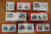 Lot Of 12 Buildings + Accessories Liberty Falls Americana Collection 1999