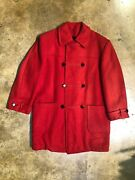 Andnbspmens Vintage Style Manor Wool Double Breasted Red Peacoat Sz 50r