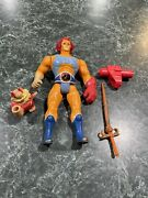 Vintage 1985 Ljn Thundercats Red Hair Lion-o W/ Sword Claw Ring And Snarf Topper