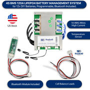 Smart Bms 12v 4s 120a Lithium Lifepo4 Battery System W/bluetooth Us Stock 4s12v