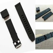 Strap Watch Band Rubber Black Waterproof For Luminox Recon Colormark 23mm New