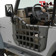 Tidal Matrix Tube Door Left Right With Side Mirror Pair Fit For 97-06 Jeep Tj