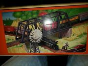 Older Lionel 6-12772 Truss Bridge With Flasher And Plain Piers O/o27 Scale