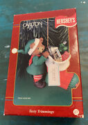 Carlton Christmas Ornament Hershey's Tasty Trimmings Bear With Candies 27 1998