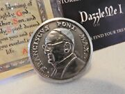 Pope Francis Coin W/ Coat Of Arms And Papal Blessing Card Italy Free Ship
