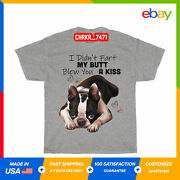 Boston Terrier Dog I Didnand039t Fart My Butt Blew You A Kiss Youth T-shirt For Kids