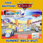 Disney Cars Color Changers Dinoco Car Wash W Excl Lightning Mcqueen Pitty New