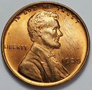 3 Choice Business Uncirculated++ Low Mintage 1935 P Lincoln Wheat Cent