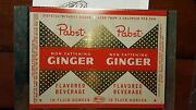 Vtg 1950s Pabst Non Fattening Ginger Ale 10oz Soda Can Unrolled Sheet Mira Co