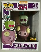 Funko Pop Hot Topic Exclusive Rides Invader Zim And Gir On The Pig 41 Nickelodeon